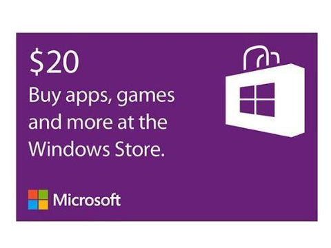 Microsoft Microsoft Windows Store Gift Card $20 - TechSupplyShop.com