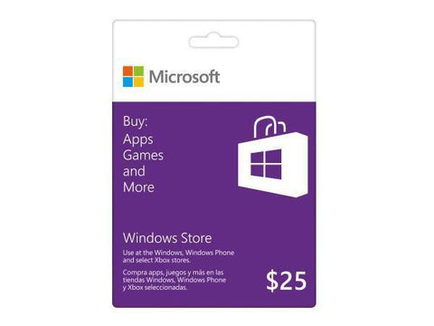 Microsoft Microsoft Windows Store Gift Card $25 - TechSupplyShop.com