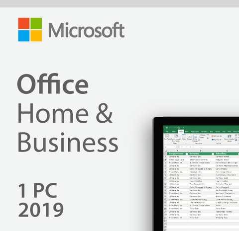 Microsoft Office 2019 Home & Business - License - 1 PC/Mac | Microsoft