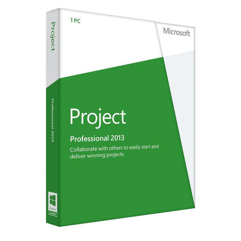 Microsoft Project Professional 2013 English 32/64bit  Retail License - TechSupplyShop.com - 1