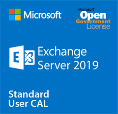 Microsoft Exchange Server 2019 Standard User CAL - Open Government