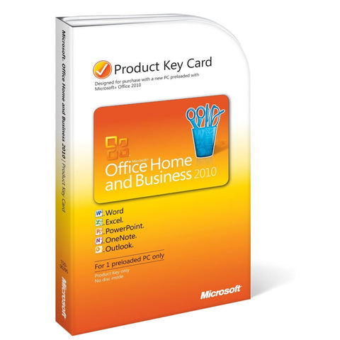 Microsoft Office 2010 Home and Business Product Keycard License - 2 Install - TechSupplyShop.com - 1