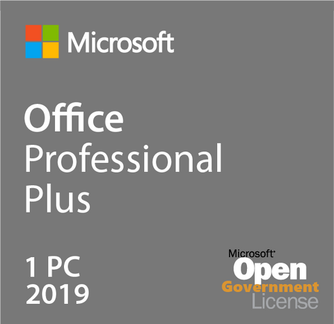 Microsoft Office Professional Plus 2019 - Open Government | Microsoft