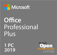Microsoft Office Professional Plus 2019 - Open Government