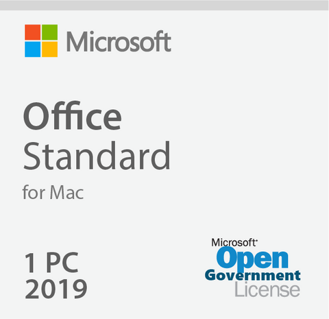 Microsoft Office 2019 For Mac Standard - Open Government | Microsoft