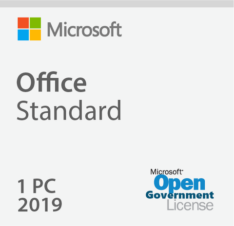 Microsoft Office Standard 2019 - Open Government