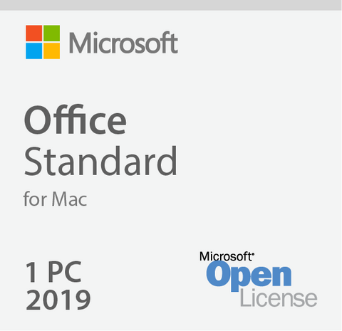 Microsoft Office 2019 For Mac Standard - Open License | Microsoft