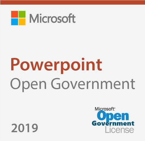 Microsoft Powerpoint 2019 - Open Government
