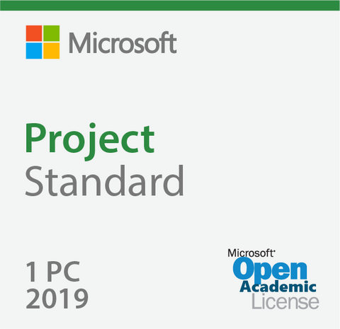 Microsoft Project Standard 2019 - Open Academic