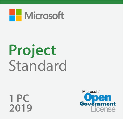 Microsoft Project Standard 2019 Open Government