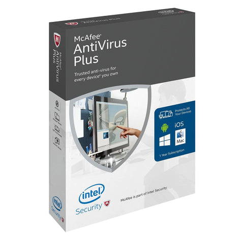 (Renewal) McAfee AntiVirus Plus - PC - 3 PCs - TechSupplyShop.com