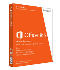 Microsoft Office 365 Home Premium 1 Yr - (5 PC or Mac)