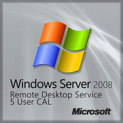 Microsoft Windows Server 2008 Remote Desktop Service - 5 User CAL