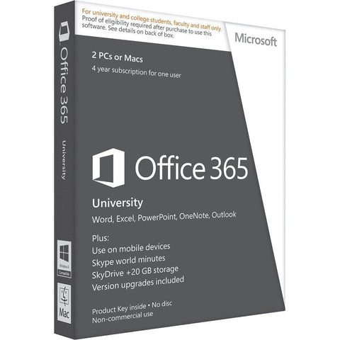 Microsoft Office 365 University PC / MAC License - TechSupplyShop.com - 1