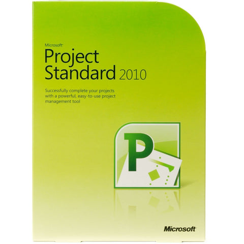 Microsoft Project Standard 2010 - Box Pack - 32/64 Bit - TechSupplyShop.com