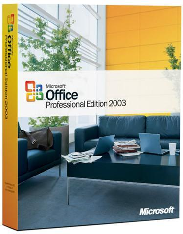 Microsoft Office Professional Edition 2003 with SP1 License and Media - TechSupplyShop.com
