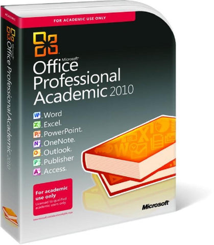 Microsoft Office Professional Academic 2010 - Box Pack 32/64 Bit - TechSupplyShop.com