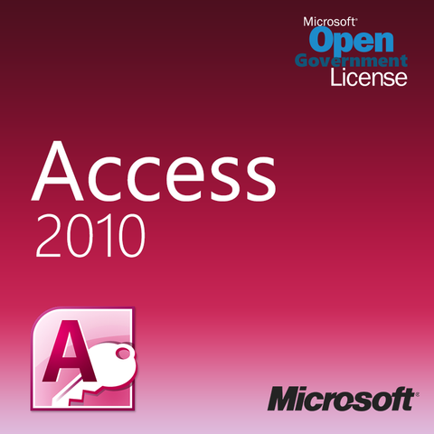 Microsoft Access 2010 Open License Gov 077-06146 | Microsoft