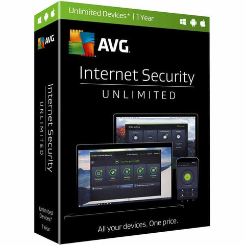 AVG Internet Security 2018 Unlimited 1 User 1 Year