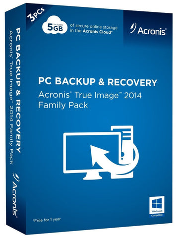 Acronis True Image 2014 Family Pack - TechSupplyShop.com