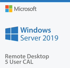 Microsoft Windows Server 2019 Remote Desktop 5 User CAL - Same Day Delivery
