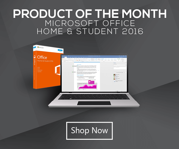 Product of the Month March - Microsoft Office Home and Student 2016