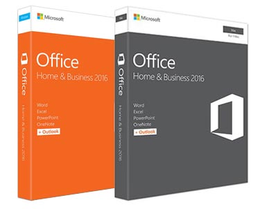 Microsoft Office Home and Business 2016 Retail Boxes