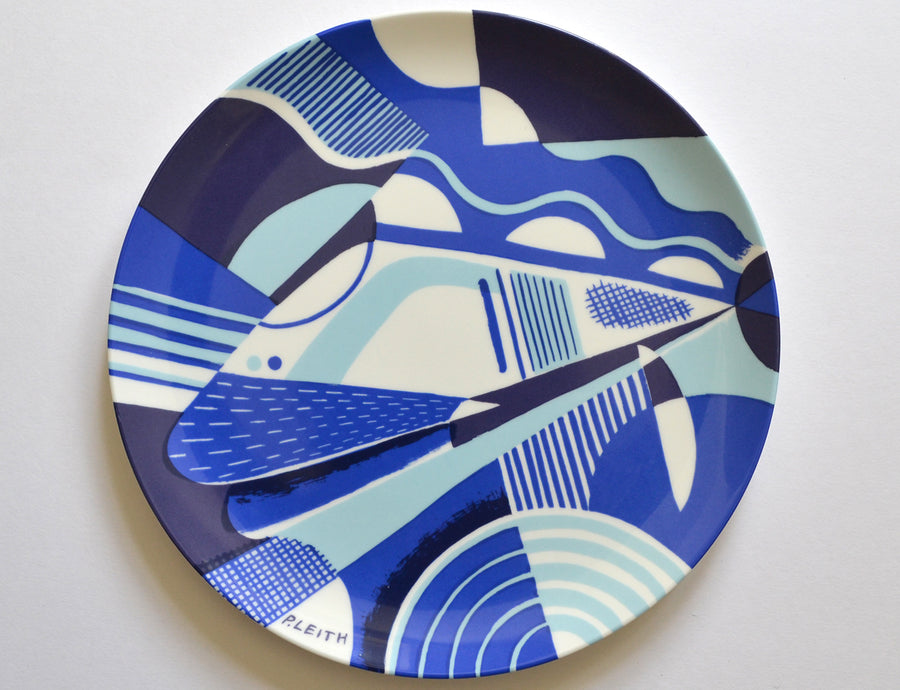 Channel Tunnel Opening Commemorative Plate