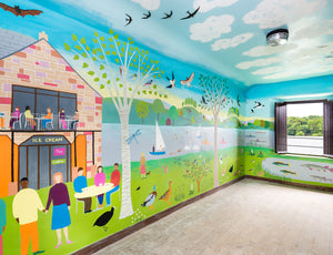 Bird Hide/Observatory Mural Artist Paul Leith
