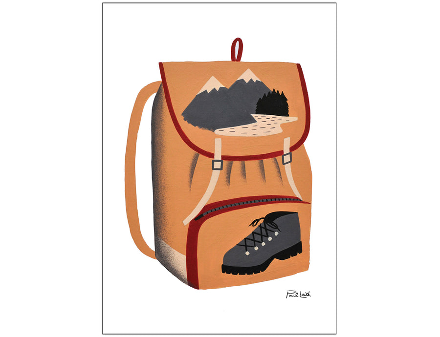 Hiking Bag A4 Print