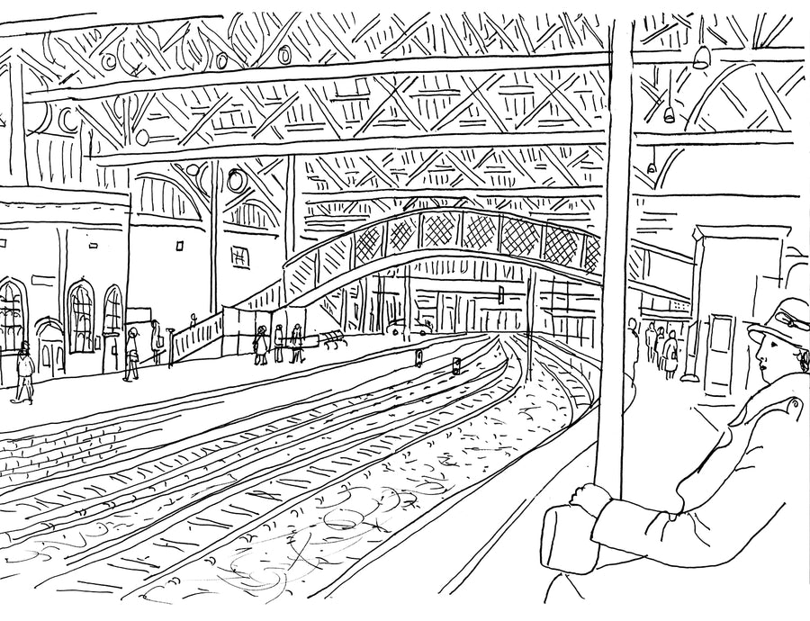 Sketch book Paul Leith Carlisle Railway Station