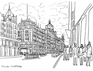 Sketch book Paul Leith Harrods Knightsbridge London