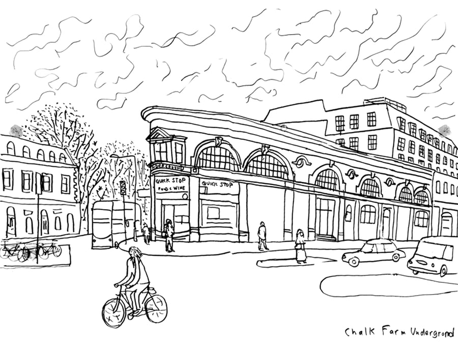 Chalk Farm Underground London Paul Leith Sketch