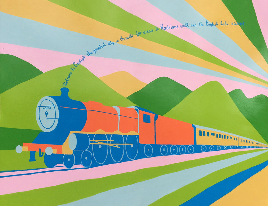 Virgin Trains Mural Artist Cumbrian Railways