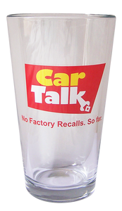 Car Talk Recall Glass Pint (Set of Two)