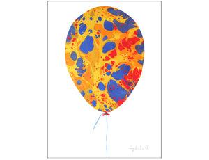 Marbled Balloon A3 Print 1