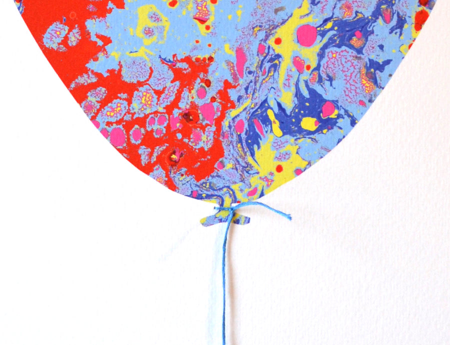 Marbled Balloon A3 Print 2