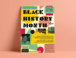 Black History Month Event Poster Design Graphics