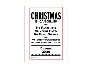 Christmas is Cancelled Greetings Card