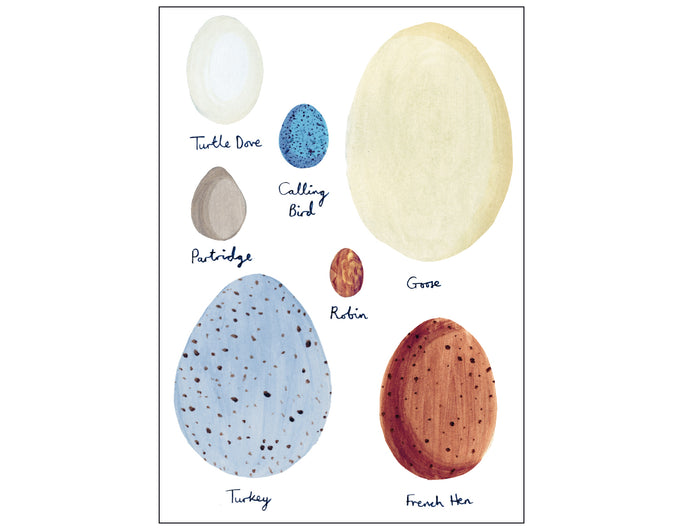 Christmas Eggs Greetings Card