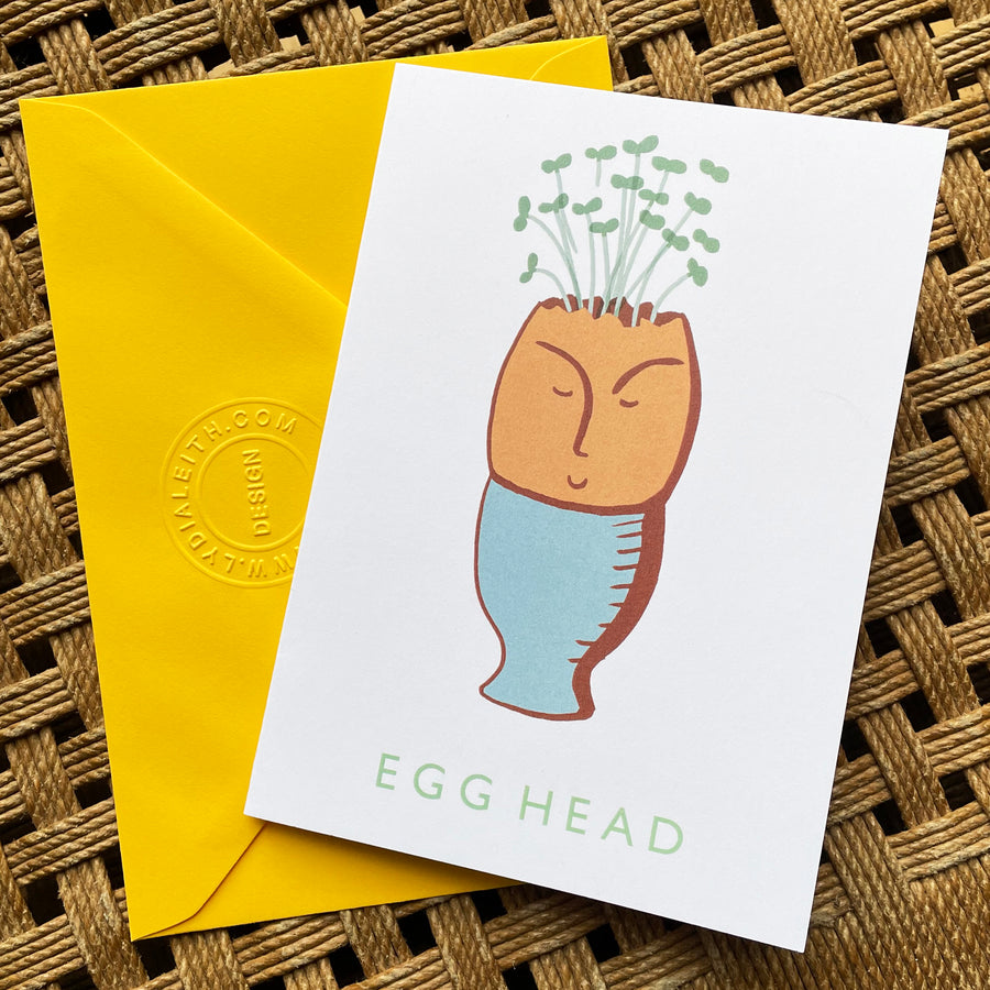 Egg Head Greetings Card A6