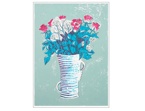 Cool Bouquet Large Art Print