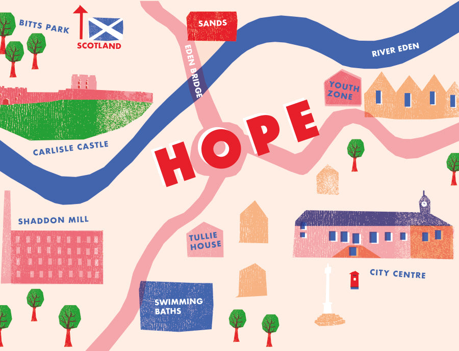 Illustrated Map, Hope Street