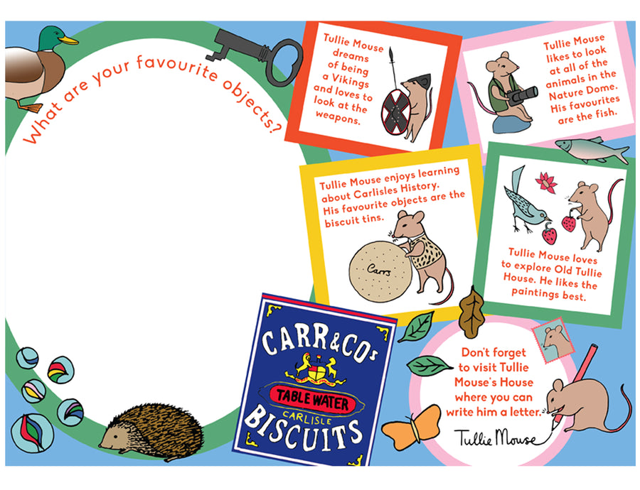 Museum character education learning activity illustration design
