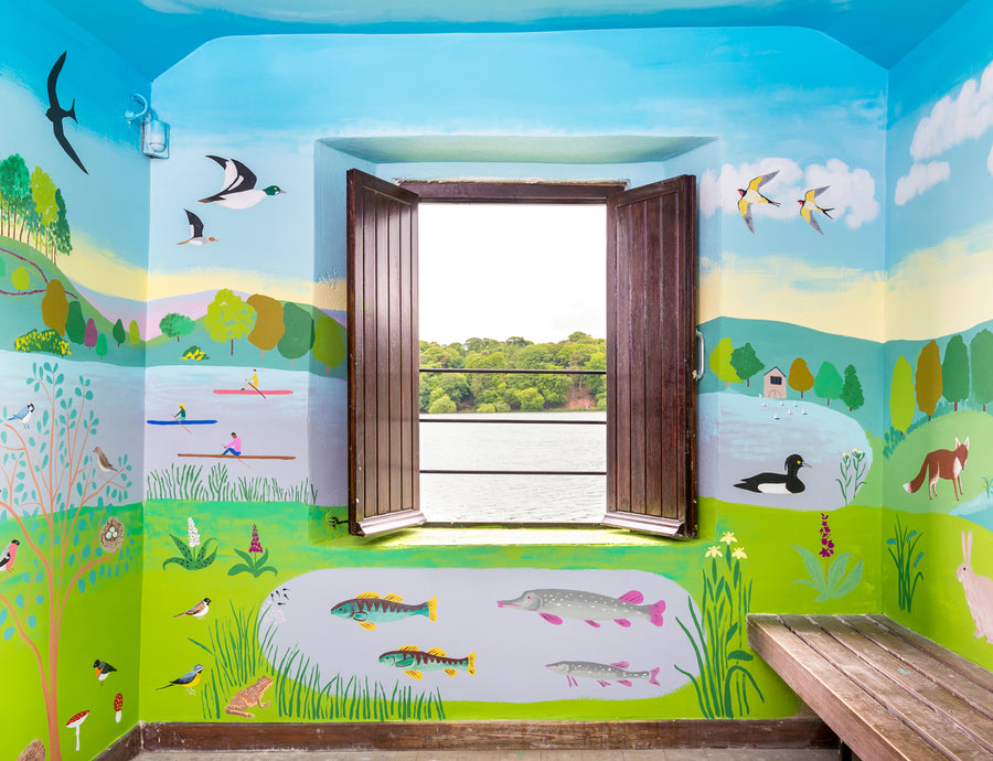 Public Art Mural Council Artist Bird Hide Observatory