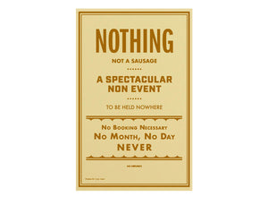 "Nothing ""Non-Event"" Poster"