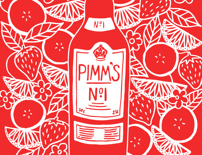 Pimm's Illustration Tote Bag Poster Design