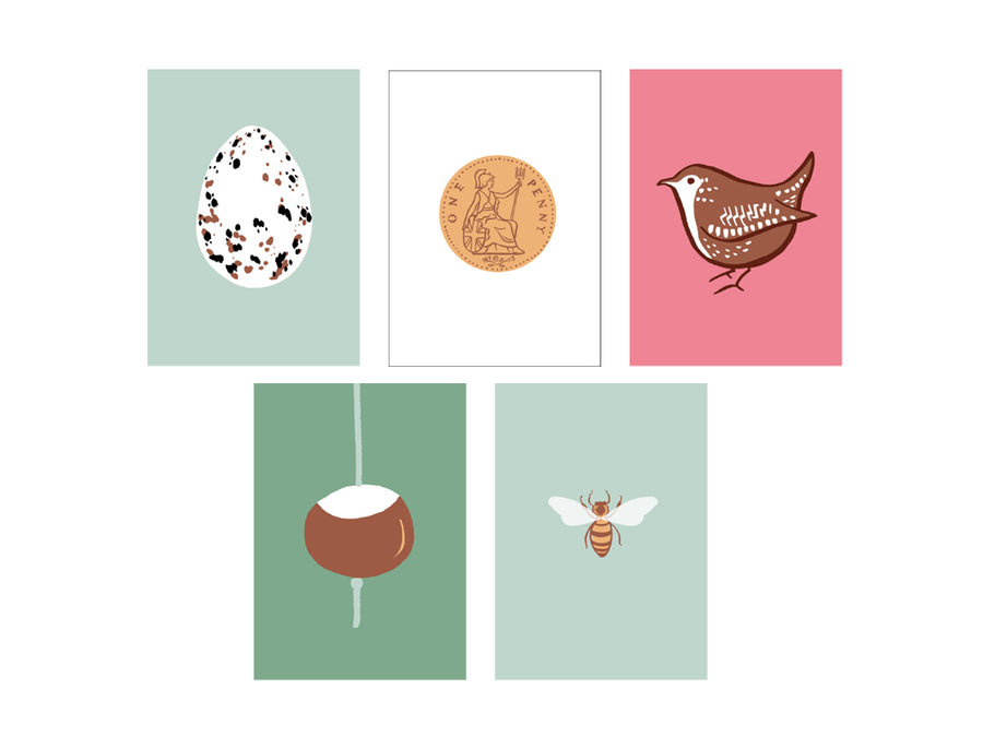 Dinky Greetings Cards Set x5
