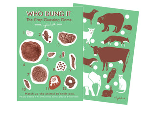 Who Dung It Animal Poo Game Quiz Zoo