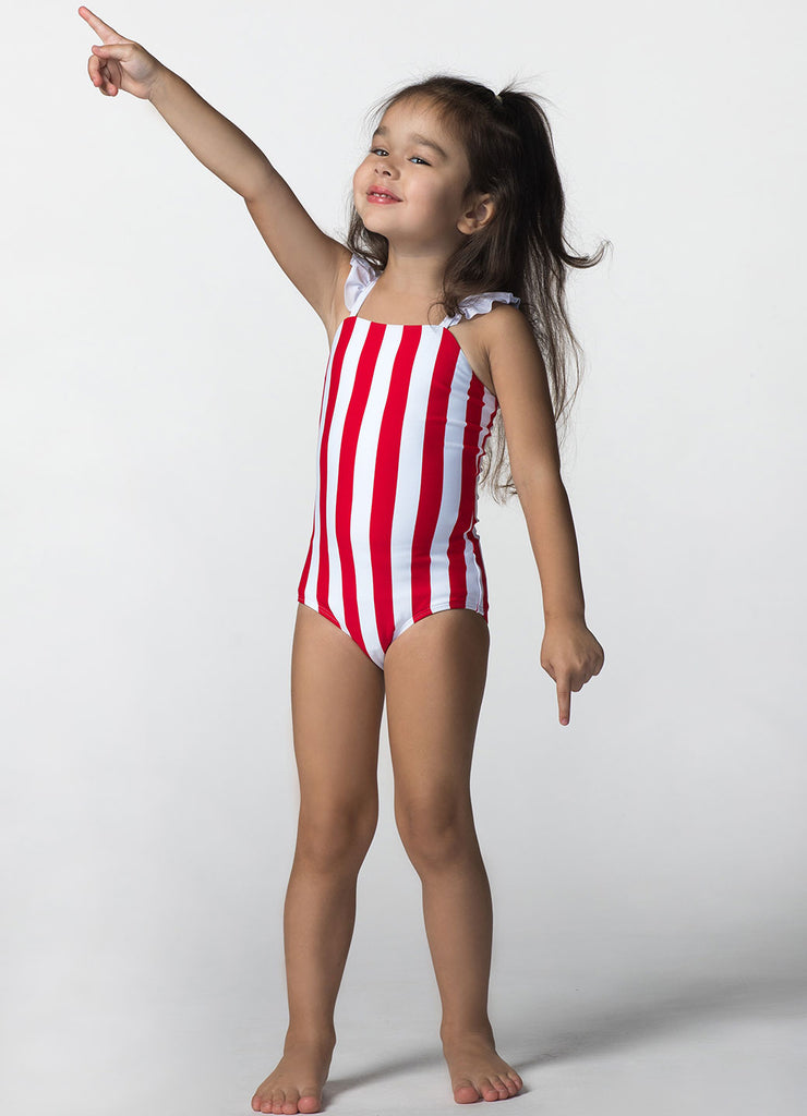 RED/WHITE STRIPE MINI MARGARITA ONE PIECE